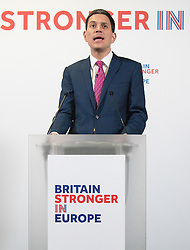 Church House, Dean&rsquo;s Yard, Westminster, London, April 12th 2016. Britain Stronger in Europe hold a keynote speech by former Foreign Secretary David Miliband on the foreign policy implications of Britain leaving Europe.<br /> &copy;Paul Davey<br /> FOR LICENCING CONTACT: Paul Davey +44 (0) 7966 016 296 paul@pauldaveycreative.co.uk