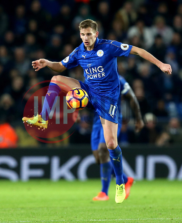 Marc Albrighton of Leicester City controls the ball - Mandatory by-line: Robbie Stephenson/JMP - 27/02/2017 - FOOTBALL - King Power Stadium - Leicester, England - Leicester City v Liverpool - Premier League