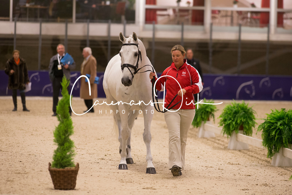 Brooks Jacquline (CAN) - D Niro <br /> Reem Acra FEI World Cup Goteborg 2013<br /> © Dirk Caremans