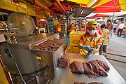 Malaysia, Kuala Lumpur. Chinatown. Chinese restaurants. Minced and dried chicken.