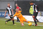Craig Sibbald of Livingston slides in on Ethan Erhahon of St Mirren during the Ladbrokes Scottish Premiership match between St Mirren and Livingston at the Simple Digital Arena, Paisley, Scotland on 2nd March 2019.