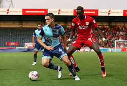 Stephen McGinn of Wycombe Wanderers turns away from Tammy Abraham of Bristol City - Mandatory by-line: Robbie Stephenson/JMP - 09/08/2016 - FOOTBALL - Adams Park - High Wycombe, England - Wycombe Wanderers v Bristol City - EFL League Cup