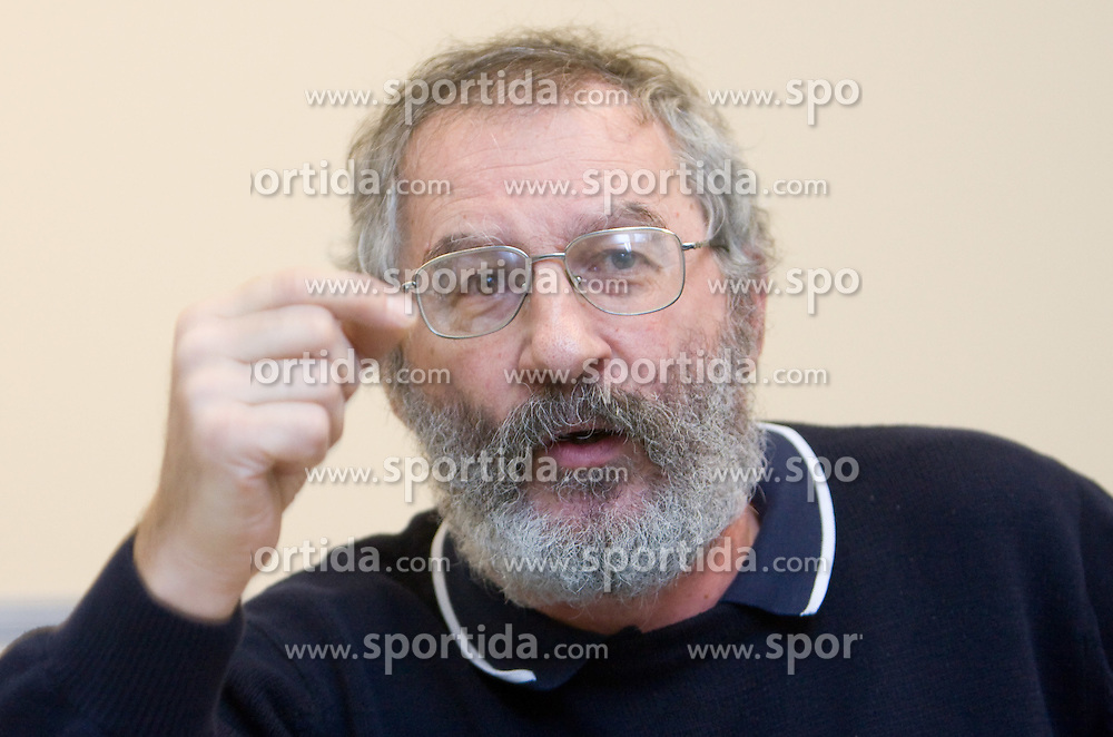 Ciril Kolesnik of MNZ Celje when supporting T. Frajman, candidate for the president of Slovenian football federation at press conference,  on January 23, 2009, in Ljubljana, Slovenia.  (Photo by Vid Ponikvar / Sportida)
