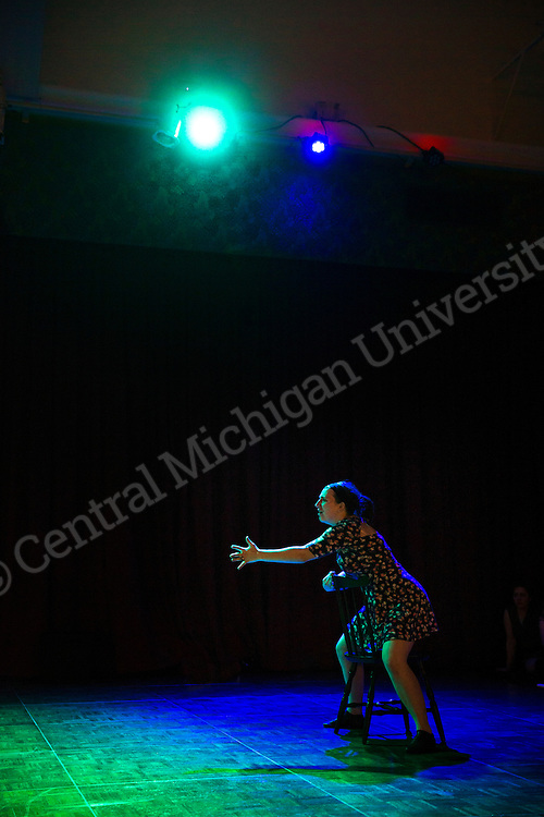 """Tyler Bradley's """"Humanity"""" had a technical and dress rehearsal for the Unity Ball on Friday, January 22nd in the UC Rotunda.  Photo by Steve Jessmore/Central Michigan University"""