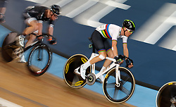 Cameron Meyer during the men's points race during Round One of the 2017/18 Revolution Series at Lee Valley Velo Park, London.