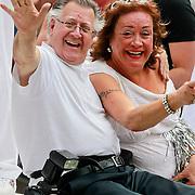 NLD/Amsterdam/20110806 - Canalpride Gaypride 2011, Joop van Tellingen en Viola Holt