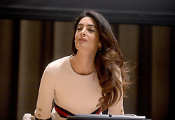 Amal Clooney, International human rights lawyer Participated on the Appointment Ceremony of Nadia Murad Basee Taha as UNODC Goodwill Ambassador for the Dignity of Survivors of Human Trafficking today at the UN Headquarters in New York City, NY, USA, September 16, 2016. Photo by Dennis Van Tine/ABACAPRESS.COM