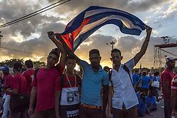 November 29, 2016 - Habana, CUBA - Tuesday, 29 November 2016. Thousands of Cubans pay  homage throughout the city of Habana, Cuba to the late  Fidel Castro Ruz. (Credit Image: © Prensa Internacional via ZUMA Wire)