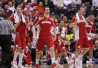 March 10, 2012: Wisconsin bench reacts to a basket against Michigan State during the Men's Big Ten Tournament semi-final game at Bankers Life Fieldhouse in Indianapolis, Ind. .Chris Bergin/ Icon SMI