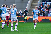 Manchester City Women forward Georgia Stanway (10) scores a goal and celebrates to make the score 3-0 during the FA Women's Super League match between Manchester City Women and West Ham United Women at the Sport City Academy Stadium, Manchester, United Kingdom on 17 November 2019.