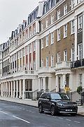 London, England, UK, February 5 2018 - In the Belgravia district, one of the richest area in London.