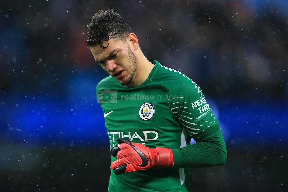 21st October 2017 - Premier League - Manchester City v Burnley - Man City goalkeeper Ederson - Photo: Simon Stacpoole / Offside.