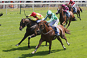 MR LUPTON (5) ridden by jockey Jack Garrity and trained by Richard Fahey wins The Listed John Smiths City Walls Stakes over 5f (£50,000) at York Racecourse, York, United Kingdom on 14 July 2018. Picture by Mick Atkins.