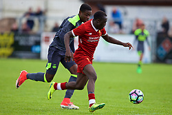 NUNEATON, ENGLAND - Sunday, July 30, 2017: Liverpool's Bobby Adekanye and PSV Eindhoven's Armando Obispo during a pre-season friendly between Liverpool and PSV Eindhoven at the Liberty Way Stadium. (Pic by Paul Greenwood/Propaganda)