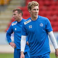 St Johnstone Training...10.05.14<br /> David Wotherspoon all smiles during training<br /> Picture by Graeme Hart.<br /> Copyright Perthshire Picture Agency<br /> Tel: 01738 623350  Mobile: 07990 594431