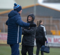 East Fife's manager Darren Young. Forfar Athletic 3 v 0 East Fife, Scottish Football League Division One game played 2/3/2019 at Forfar Athletic's home ground, Station Park, Forfar.