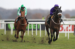 Perfect Pasture ridden David Allan (right) wins the Unibet Cammidge Trophy Stakes during 32Red Lincoln day at Doncaster Racecourse.