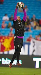 CHARLOTTE, USA - Friday, August 1, 2014: Liverpool's goalkeeper Jose Reina during a training session at the Bank of America Stadium on day twelve of the club's USA Tour. (Pic by David Rawcliffe/Propaganda)