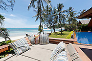 Lounging area at Baan Kilee, luxury, private villa located on Lipa Noi Beach, Koh Samui, Thailand