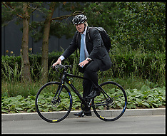 JULY 04 2013 Boris Johnson's New Push Bike