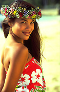 Polnesian Woman, Hawaii, USA<br />