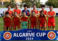 International Women's Friendly Matchs 2019 / <br /> Womens's Algarve Cup Tournament 2019 - <br /> China v Norway 1-3 ( Municipal Stadium - Albufeira,Portugal ) - <br /> Team of China ,pose prior the match ,from the left up :WANG LINLIN ,LIN YUPING ,WANG SHIMENG ,LI YING ,WANG SHANSHAN ,YAO WEI //<br /> LOU JIAHUI ,HUANG YINI ,WU HAIYAN ,GU YASHA ,LIU SHANSHAN