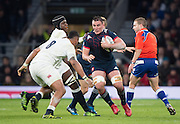 Twickenham, United Kingdom.  Louis PICAMOLES, during the    RBS, Six Nations : England   vs France  at the  RFU Stadium, Twickenham, England, <br /> <br /> Saturday  04/02/2017<br /> <br /> [Mandatory Credit; Peter Spurrier/Intersport-images]