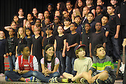 The Sagamore Hills Elementary School spring chorus concert is performed by fourth and fifth graders, Tuesday, May 7, 2013, in Atlanta.  (David Tulis/dtulis@gmail.com)