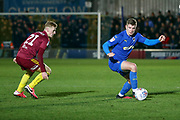 AFC Wimbledon midfielder Max Sanders (23) dribbling during the EFL Sky Bet League 1 match between AFC Wimbledon and Ipswich Town at the Cherry Red Records Stadium, Kingston, England on 11 February 2020.