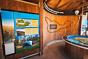 Interpretive displays, Santa Cruz Island, Channel Islands National Park, California