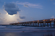 Moonrise at the Jacksonville Beach Pier