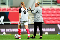 Tanya Oxtoby manager of Bristol City Women and Meaghan Sargeant of Bristol City  - Mandatory by-line: Ryan Hiscott/JMP - 07/09/2019 - FOOTBALL - Ashton Gate - Bristol, England - Bristol City Women v Brighton and Hove Albion Women - FA Women's Super League