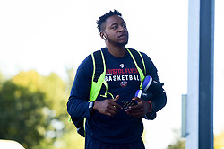 Panos Mayindombe of Bristol Flyers arrives at SGS Wise Arena prior to tip off - Photo mandatory by-line: Ryan Hiscott/JMP - 20/09/2019 - BASKETBALL - SGS Wise Arena - Bristol, England - Bristol Flyers v Surrey Scorchers - British Basketball League Cup