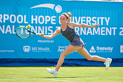 LIVERPOOL, ENGLAND - Thursday, June 15, 2017: Ellie Aldrich (GBR) during Day One of the Liverpool Hope University International Tennis Tournament 2017 at the Liverpool Cricket Club. (Pic by David Rawcliffe/Propaganda)