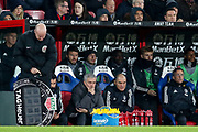 Manchester United Manager Jose Mourinho during the Premier League match between Crystal Palace and Manchester United at Selhurst Park, London, England on 5 March 2018. Picture by Phil Duncan.