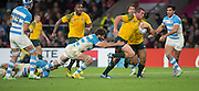 Twickenham. Great Britain,  Toby SMITH, running with the ball, during, Semi Final. Australia vs Argentina  2015 Rugby World Cup,  Venue, Twickenham Stadium, Surrey England.   Sunday  25/10/2015   [Mandatory Credit; Peter Spurrier/Intersport-images]