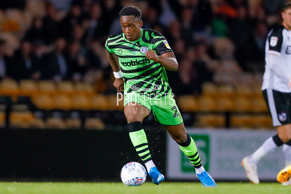 Forest Green Rovers Udoka Godwin-Malife(22) in action  during the EFL Sky Bet League 2 match between Port Vale and Forest Green Rovers at Vale Park, Burslem, England on 20 August 2019.