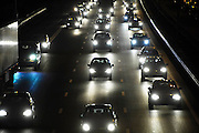 Nederland, A50, 9-12-2010Een drukke avondspits op de A 50, tussen knooppunt Ewijk en Grijsoord, waar al jaren grote vertragingen zijn vanwege het intensieve verkeersaanbod.Foto: Flip Franssen/Hollandse Hoogte