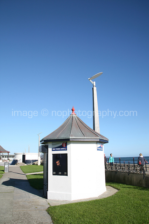 Bray tourist office kiosk at Bray Promenade County Wicklow Ireland
