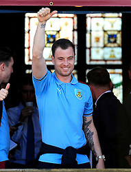 Burnley's Ashley Barnes - Mandatory by-line: Matt McNulty/JMP - 09/05/2016 - FOOTBALL - Burnley Town Hall - Burnley, England - Burnley FC Championship Trophy Presentation