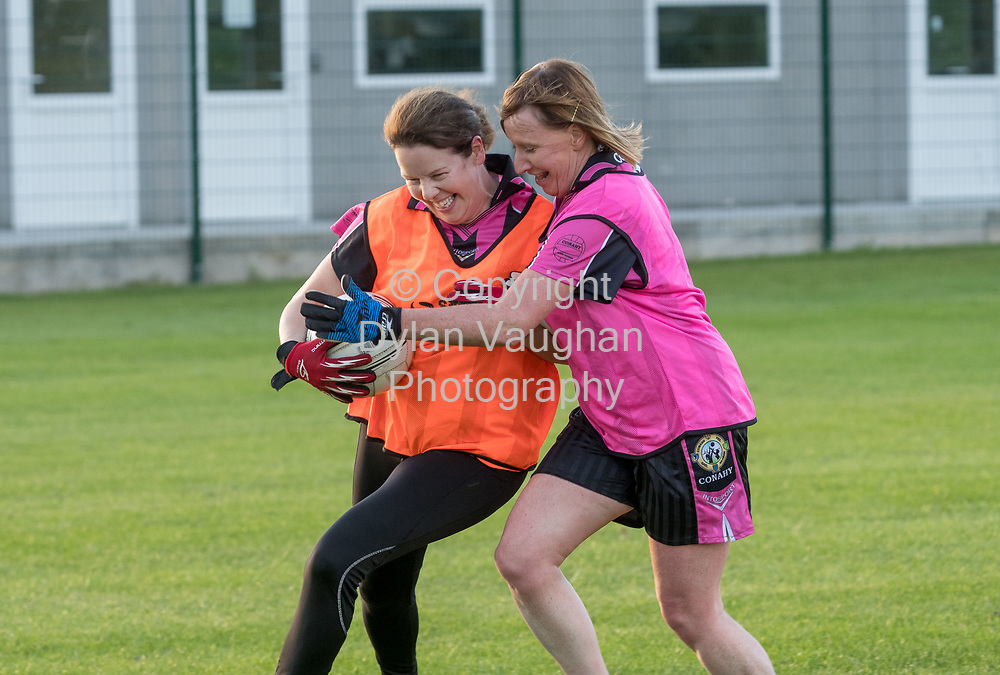 13-7-17<br /> The Ladies football team pictured at Conahy Shamrocks.<br /> <br /> Pictured is from left Claire Holohan and Joanne Lawlor.<br /> <br /> Picture Dylan Vaughan.