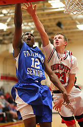 February 14, 2011: High School Boys Varsity Basketball Bridgeport vs. Fairmont Senior at Bridgeport High School. (Photo by: Ben Queen)