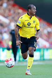 Gabriel Agbonlahor of Aston Villa in action - Mandatory by-line: Jason Brown/JMP - Mobile 07966 386802 08/08/2015 - FOOTBALL - Bournemouth, Vitality Stadium - AFC Bournemouth v Aston Villa - Barclays Premier League - Season opener