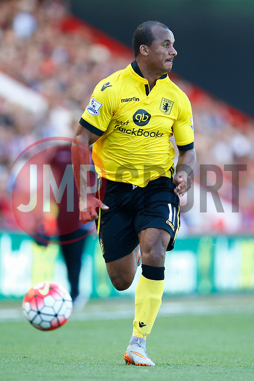 Gabriel Agbonlahor of Aston Villa in action - Mandatory by-line: Jason Brown/JMP - Mobile 07966 386802 08/08/2015 - FOOTBALL - Bournemouth, Vitality Stadium - AFC Bournemouth v Aston Villa - Barclays Premier League - Season opener