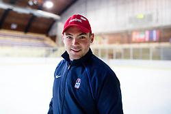 Peter Skrabelj, goalie coach of U20, before first practice of Slovenian National Ice Hockey team before EIHC tournament in Innsbruck, on November 4, 2013 in Ledena dvorana Bled, Bled, Slovenia. (Photo by Matic Klansek Velej / Sportida.com)