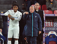 Football - 2016 / 2017 Premier League - Crystal Palace vs. Swansea City<br /> <br /> Swansea Caretaker Manager Alan Curtis brings on Leroy Fer at Selhurst Park as New Manager Paul Clement watches from behind.<br /> <br /> COLORSPORT/ANDREW COWIE