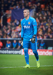 December 12, 2018 - Valencia, U.S. - VALENCIA, SPAIN - DECEMBER 12: Jaume Domenech, goalkeeper of Valencia CF looks during the UEFA Champions League group stage H football match between Valencia CF and Manchester United FC at Mestalla stadium on December 12, 2018, in Valencia, Spain. (Photo by Carlos Sanchez Martinez/Icon Sportswire) (Credit Image: © Carlos Sanchez Martinez/Icon SMI via ZUMA Press)