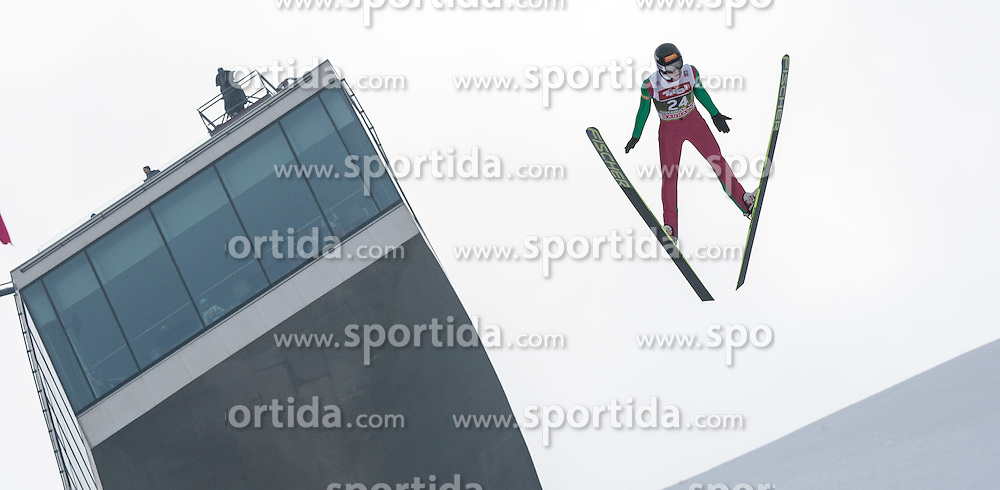 03.01.2015, Bergisel Schanze, Innsbruck, AUT, FIS Ski Sprung Weltcup, 63. Vierschanzentournee, Innsbruck, Training, im Bild Martti Nomme (EST) // Martti Nomme of Estonia soars through the air during a training session for the 63rd Four Hills Tournament of FIS Ski Jumping World Cup at the Bergisel Schanze in Innsbruck, Austria on 2015/01/03. EXPA Pictures © 2015, PhotoCredit: EXPA/ Jakob Gruber