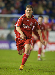 WARRINGTON, ENGLAND - Tuesday, February 26, 2008: Liverpool's Krisztian Nemeth in action against Manchester United during the FA Premiership Reserves League (Northern Division) match at the Halliwell Jones Stadium. (Photo by David Rawcliffe/Propaganda)