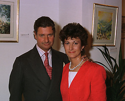 Artist HARRY HOLCROFT and the MRS HOLCROFT at an exhibition in London on April 15th 1997.LXP 15